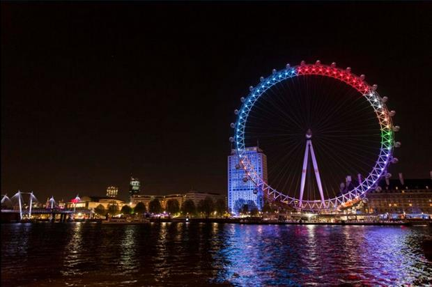 London Eye turns into pie chart in the lead up to the General Election