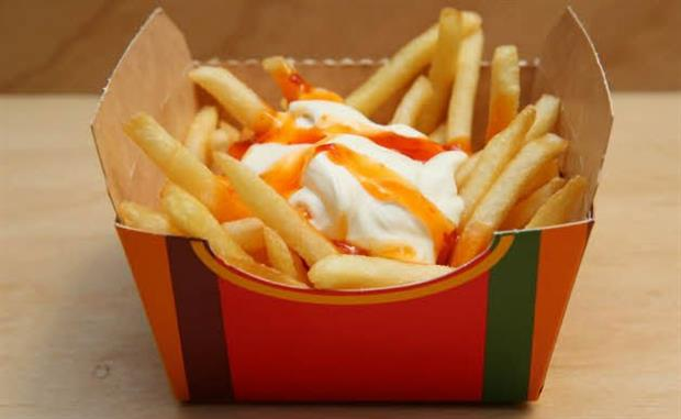 There were six different toppings available at the fries-only pop-up (image: McDonald's Australia)