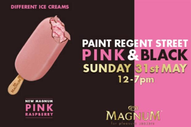 Magnum will takeover Regent Street to celebrate the launch of two new ice cream flavours
