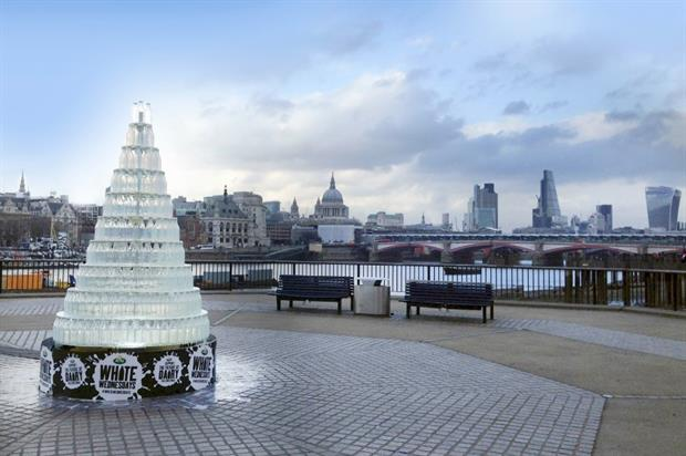 The installation was revealed on the South Bank today (2 December)