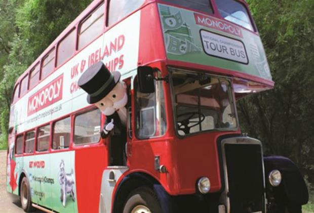 Mr Monopoly will feature onboard the tour bus