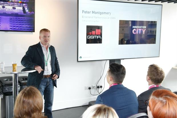 Peter Montgomery spoke at the Power Brands Theatre, powered by George P Johnson (Julian Dodd)