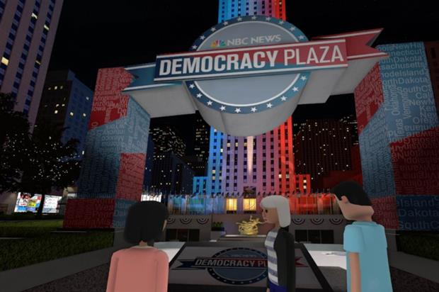 NBC News' Virtual Democracy Plaza at New York's Rockefeller Center