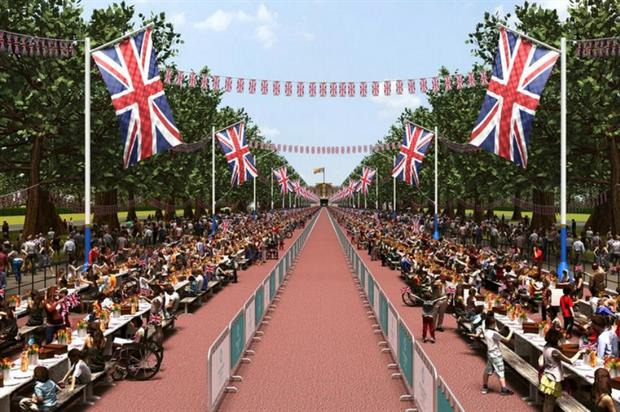 The event will welcome 10,000 guests along The Mall in London