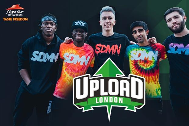 Pizza Hut has been announced as Upload's first headline sponsor