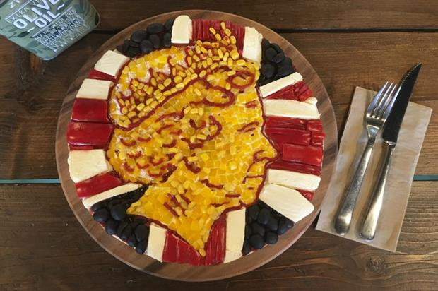 Zizzi has created some pizza art to mark the Queen's big day