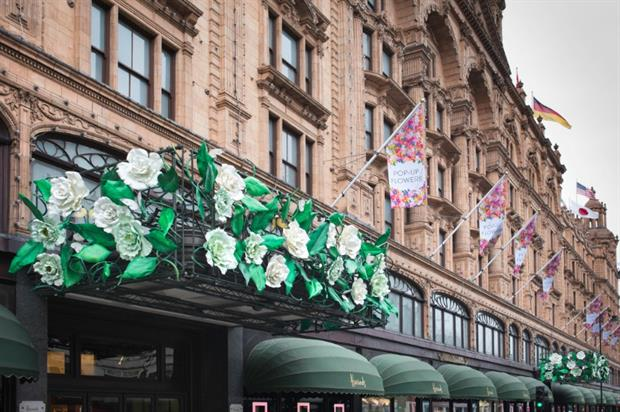 Harrods launched its Pop-Up Flowers campaign to celebrate summer