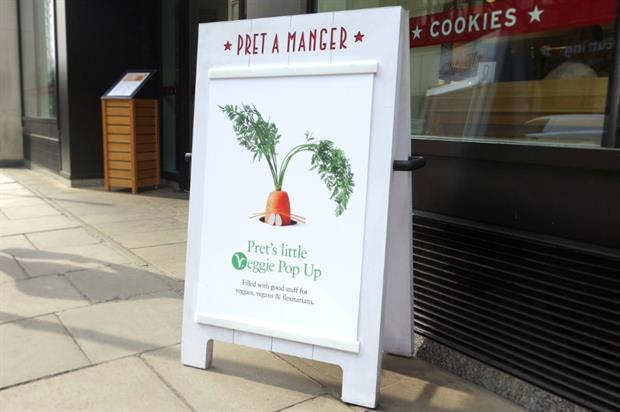 The pop-up will serve vegetarian dishes only