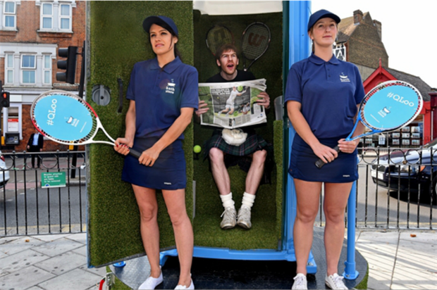 Bathstore's QLoo comes complete with ball boys and girls