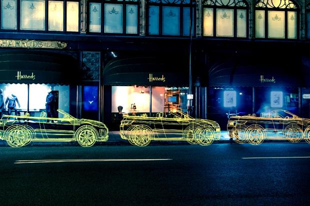 Range Rover's sculptures were created in advance of the launch of the Evoque Convertible