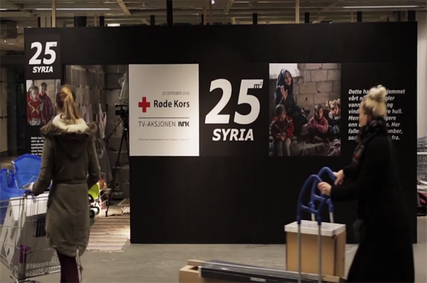 Ikea and Norwegian Red Cross: highlighting plight in Syria