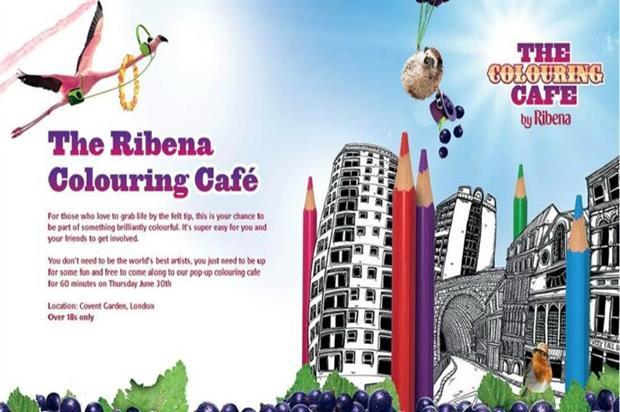 Ribena: colouring cafe to create pop-up fun