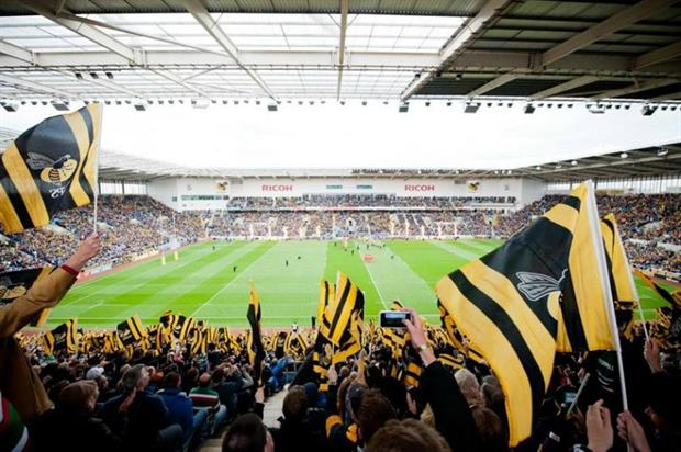 The Ricoh Arena in Coventry is home to The Wasps