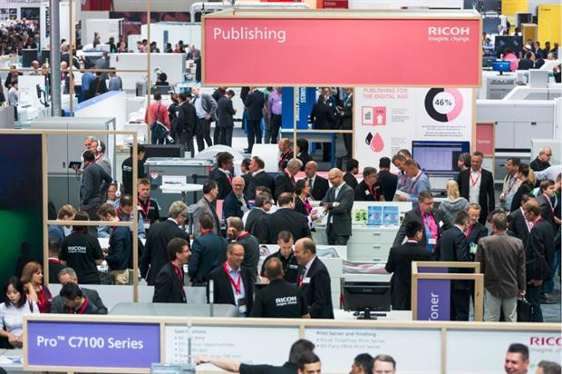 Ricoh's stand at Drupa 2016