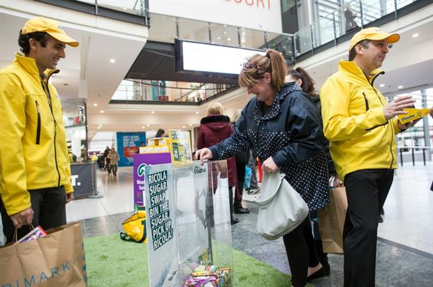 Consumers could swap sweets and chocolate for a packet of Ricola