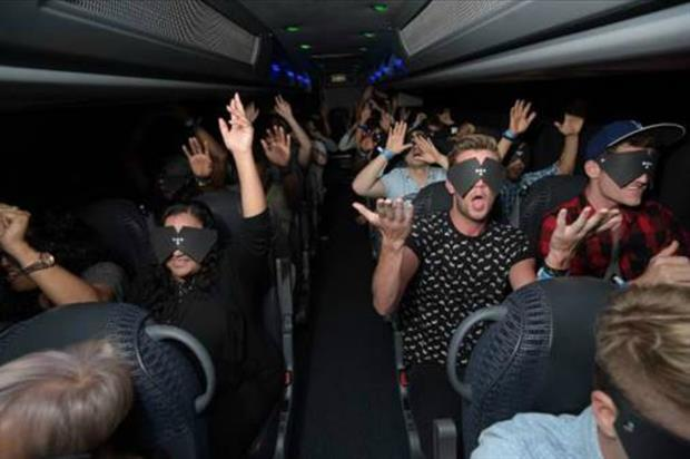 Rihanna fans were blindfolded and driven to an unknown destination
