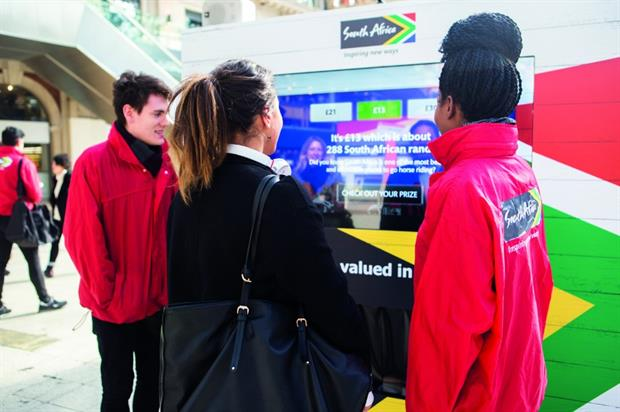 The South African Tourism activation was developed with agency BD Network