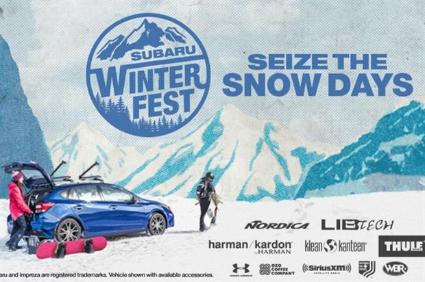 Subaru encourage guests to #SeizeTheSnowDays with Winterfest Lifestyle tour