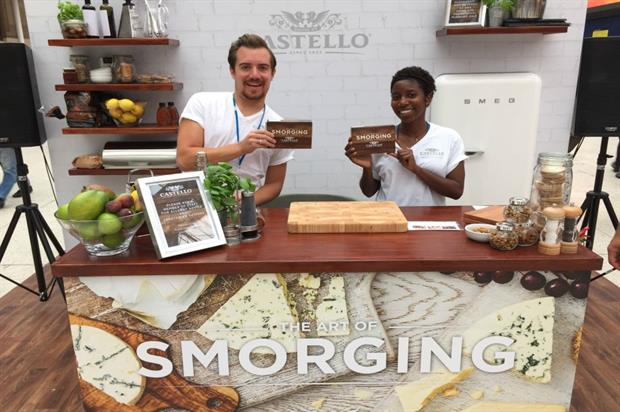 Visitors to Castello's pop-up kitchen will receive smorging boxes including three cheeses