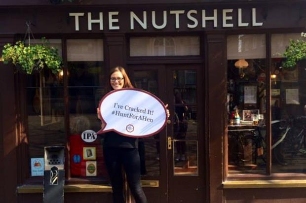 The bar toured secret locations across the UK last Easter