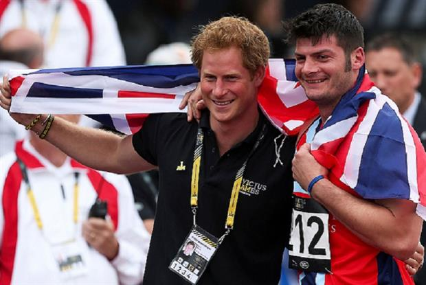 Prince Harry and Dave Henson