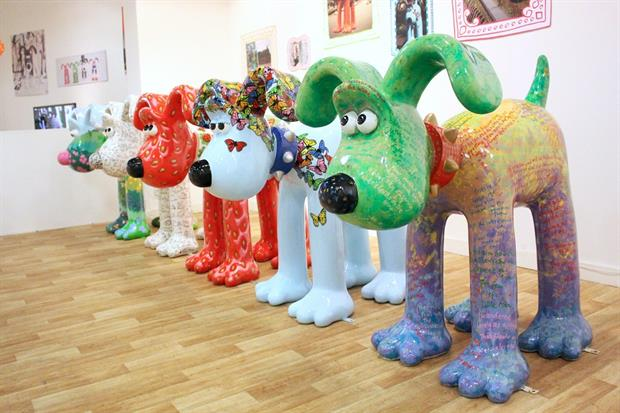 The Gromit sculptures