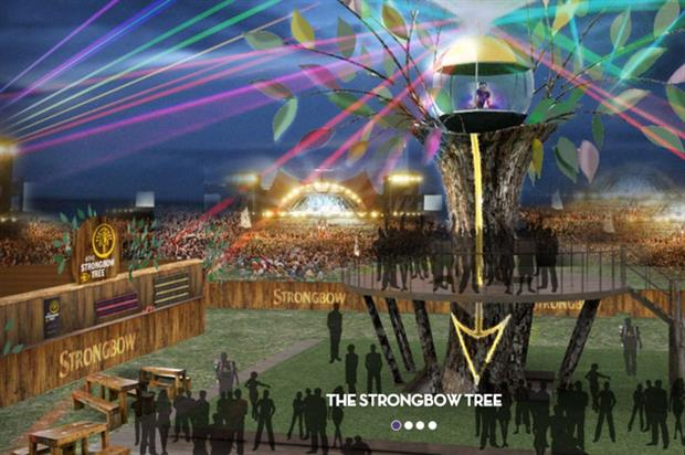 Strongbow to activate with a 12 metre tree (isleofwightfestival.com)