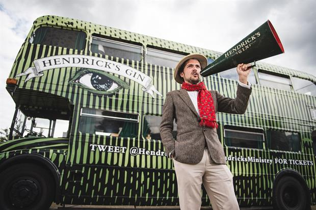 Hendricks bring cucumber bus to London