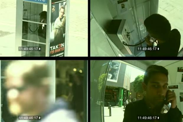 Passers-by spoke to 'Bryan Mills' in the phonebooth
