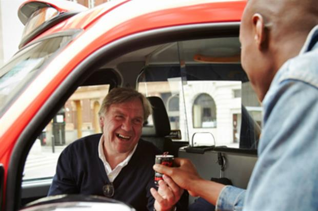 Special branded taxis will distribute samples of the drink