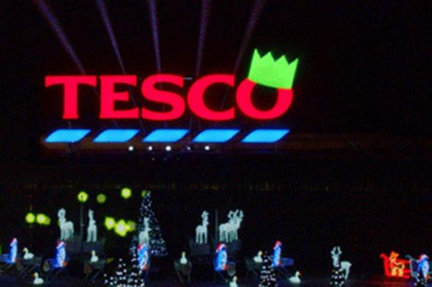 Tesco launched its Christmas display in Wigan
