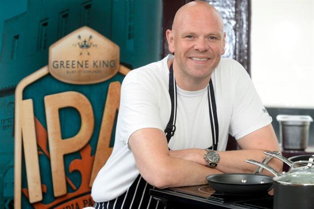Tom Kerridge will serve up food to complement Greene King's IPA