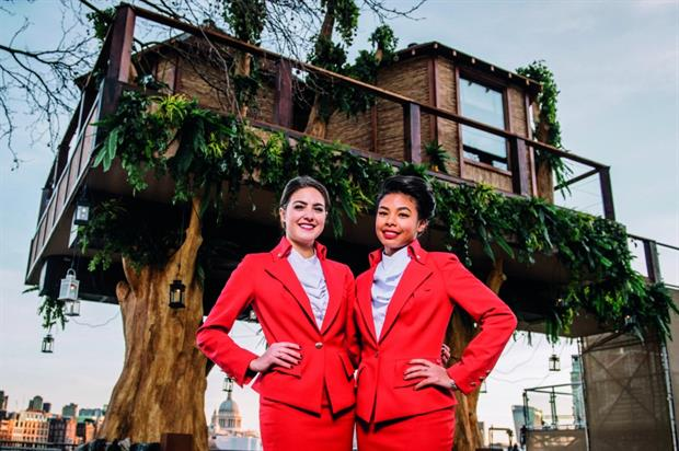 Virgin Holidays' treehouse activation on London's South Bank