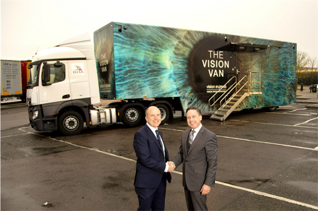 Vision Express has teamed up with the Road Haulage Association on the campaign