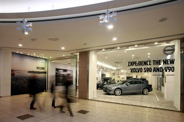 Volvo unveils pop-up stores in two UK shopping centres