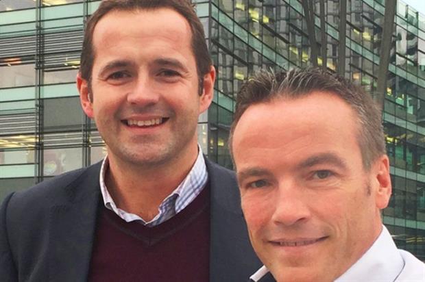 Paul Austin (left) and Andy Horrigan announce the partnerhship