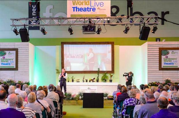 Wyevale Garden Centres and GreenThumb are sponsoring the event (@BBCGWLive)