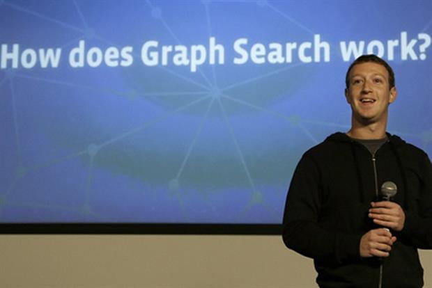 Mark Zuckerberg: Facebook chief executive at the launch of Graph Search
