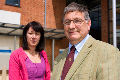 Dr Ian Greaves and practice manager Nicola Greaves