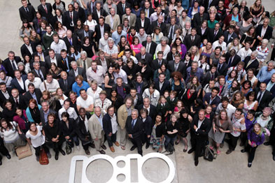 Dr Tim Ballard attended the launch of the 10:10 campaign