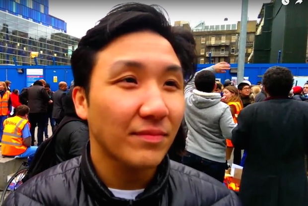 Dr Kenny Siu, a trainee GP who is supporting the junior doctor strike