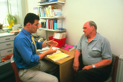 Eye contact and posture are of great importance in effective doctor/patient communication (Photograph:spl)