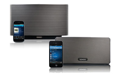 Sonos Play:3 (top) and Play:5