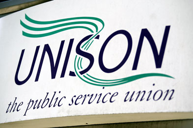 Unison has highlighted the hard work of public service workers and the uncertainty they now face