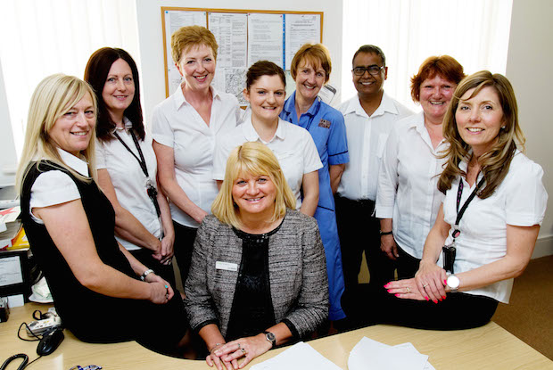 Lin Baillie (centre) and the team at Wigton Group Medical Practice