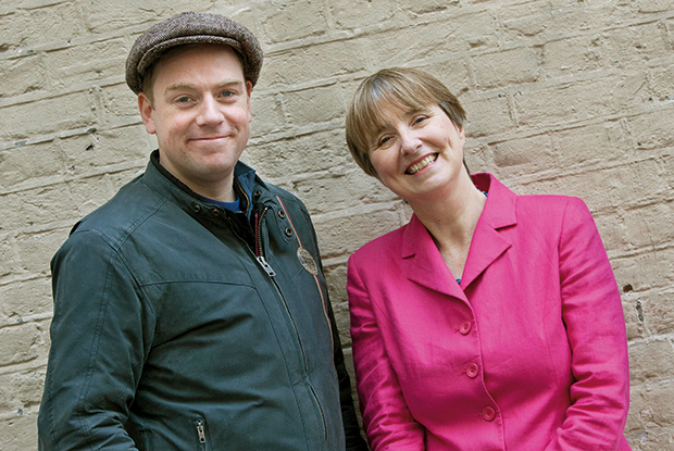 Comedian Rufus Hound with Dr Louise Irvine on the campaign trail (Photo: NHA party)