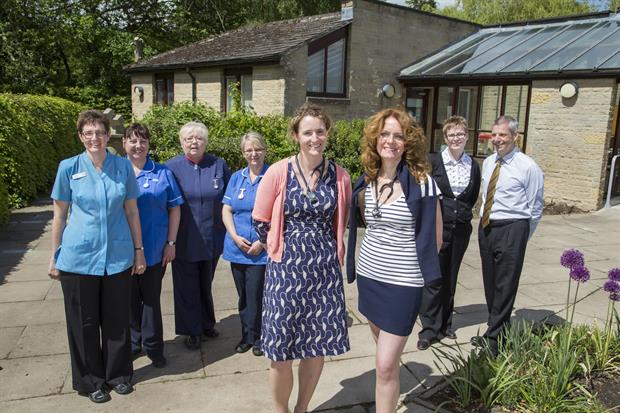 Staff at Baslow Health Centre including Dr Louise Jordan (centre, right) pictured for BBC TV documentary The Real Peak Practice