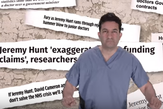 Junior doctor Dr Rishi Dhir appears in a music video for his contract protest song 'Stand Up'