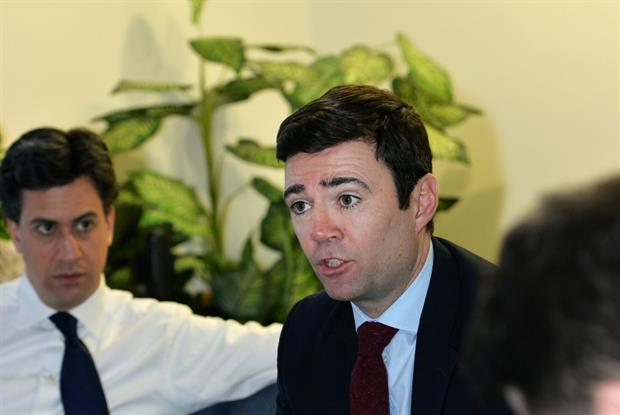 Ed Miliband and Andy Burnham: Labour NHS plans (Photo: UNP)