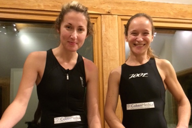 Dr Wakefield (left) and Dr Gilchrist will be taking part in the half Ironman in May